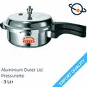Elite Silver Aluminium Outer Lid Pressure - 3 Ltr, For Home