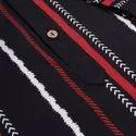 Janasya Men's Black Cotton Kurta(MEN5017)