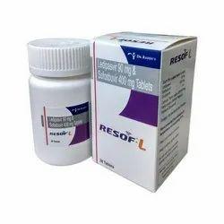 Ledipasvir 90 Mg & Sofosbuvir 400 Mg Tablet