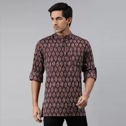 Janasya Men's Brown Cotton Kurta(MEN5006)