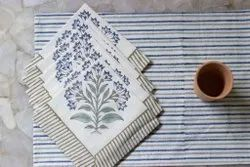 Cotton Hand Block Print Table Mat and Napkins