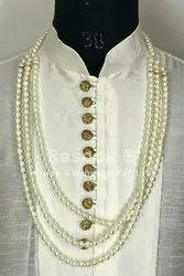 Groom White Pearl Mala