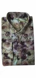 Cotton Men Printed Party Wear Shirt, Size: Xl