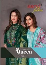 Aarvi Fashion Cotton Queen Vol 3 Cambric Cotton Printed Dress Material Catalog
