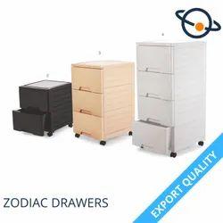 Modern Gray Aristo Zodiac Drawers, For Home