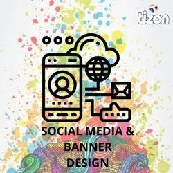 Every Colour Social Media Banner Designing Services, Shape: Rectangular, None