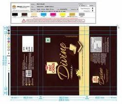 Plastic Delicious Divine Vanilla Packaging Pouch