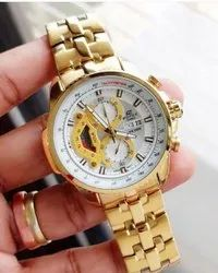 Round Luxury(Premium) Casio Edifice Mens Watch, For Personal Use