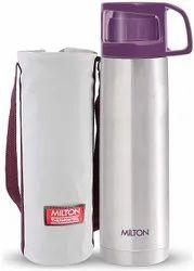 Ss, Plastic Plain Milton Glassy Thermosteel Flask Water Bottle, Capacity: 500 Ml