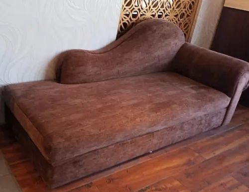 Modern Brown Fabric Sofa Bed For Home, Brown Cloth Sofa Bed