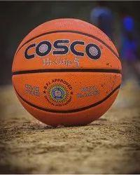 Natural Rubber Orange Cosco Hi Grip S5 Basketball