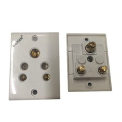White 6A Electric Socket