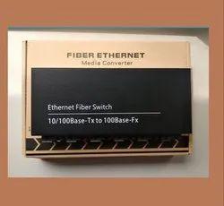 Fiber Ethernet Media Converter 100mbps/Single Mode, 6 Fiber/ 2RJ45 20KM SC, Without Adapter