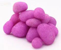 Aquarium Tumbled Polished Florocent Coloured Violet River Pebble