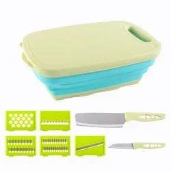 Foldable Drain Basket Kitchen Knife Set