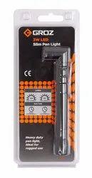 Groz LED/160 LED Slim Pen Light/Easy to Carry Light/Pocket Light 3W