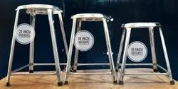 TMS SS Round Stainless Steel Stool, Size: 18 X 12