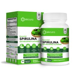 Spirulina Capsule - Elicura Spirulina (60 Veg Capsules), Patco Pharma