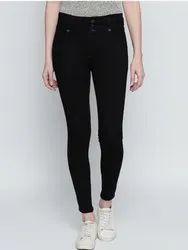Denim Women Black Slim Fit High-Rise Stretchable Jeans