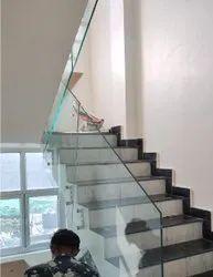 Balcony Toughened Glass Railing, For Home