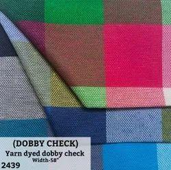 Yarn Dyed Dobby Check Shirting Fabric