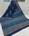 Exclusive Natural Bagru Dabu Hand Block Printed Cotton Saree