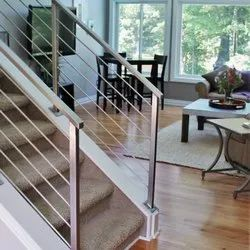 Stairs Stainless Steel Staircase Railing, For Residential