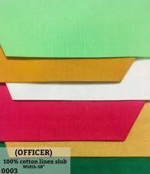 Officer 100% Cotton Linen Slub Shirting Fabric