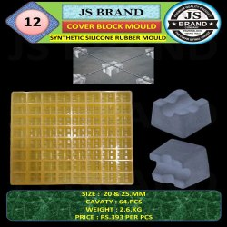 64 Cavity 25 mm Synthetic Silicone Rubber Mold
