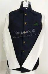 Designer Blue Green Nehru Jacket