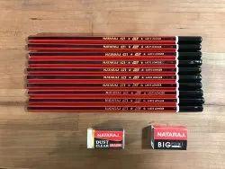 Black Hb Natraj Pencil 621, For Writing
