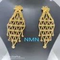 Gold Colored LCD Long Earring Jewellery Set For Women And Girl Bijoux