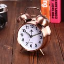 LDG Ware Vintage Look Twin Bell Copper Table Alarm Clock with Night Led Light