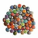Komoli Painted Eco-friendly Paper Mache Handmade Colorful Jewellery Trinket Ring Box, Size/dimension: 1.5 Inch Onwards