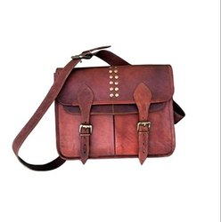 Handmade Unisex Genuine Leather Laptop Bag, Size: 11