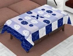 Rectangular Multicolor Floral Cotton Table Cover 40x60 Inches