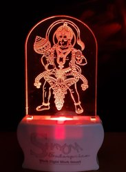 Shayona Lord Hanuman Color 3D  Illusion LED  Acrylic Night Lamp