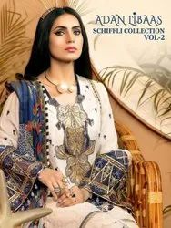 Shree Fabs Unstitched Pure Cotton With Embroidery Pakistani Suit, Dry clean