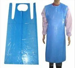 Blue Plain Disposable Plastic Apron, For Safety, Size: 140 x 150 Cm