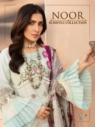 Shree Fab Noor Schiffli Collection Lawn With Embroidery Pakistani Suit Catalog