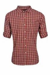 Brown Mens Casual Shirt