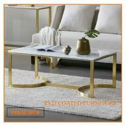 Stainless Steel Rectangular SS PVD Coated Furniture, Material Grade: SS-304, Size: 4 Ft By 2 Ft