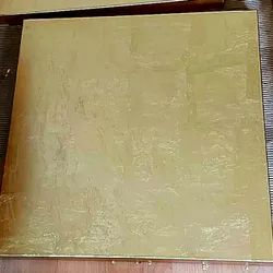 Modern Brass Sheet with Golden Leaf Texture Wall Decor and Wall Cladding
