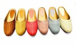 Party Wear Synthetic Leather Ladies Mules, Size: 36 Ind