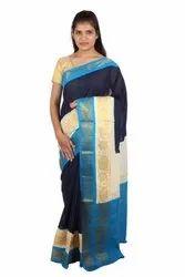 Party Wear Fancy Madurai Sungudi Cotton Saree, With Blouse, 6 m