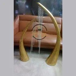 Golden Aluminium Decorative Vase