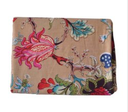 Indian Made Floral Jaipuri Ethnic Print 100% Cotton Fabric Sanganeri Print Fabric