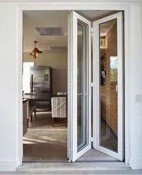 Toughened Glass UPVC Bi Fold Door, 10 Mm