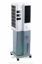 Crompton Plastic Mystique Dlx 34 Ltrs Tower Air Cooler (white And Grey)