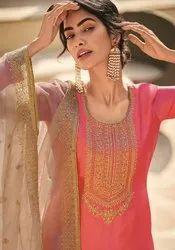 Deepsy Suits Adriti Tussar Silk With Cording Work Straight Salwar Suit Catalog